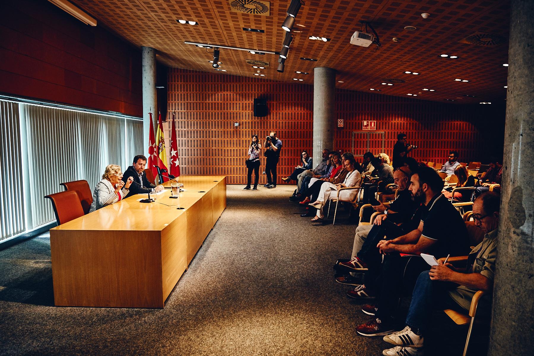 Rueda de prensa Manuela Carmena